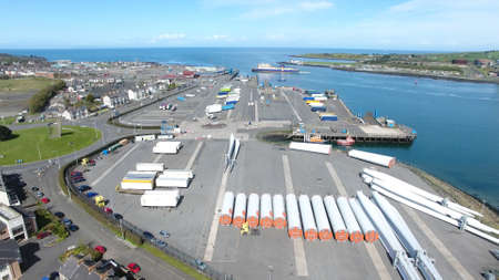 Port of Larne Co Antrim Northern Ireland 14th March 2020