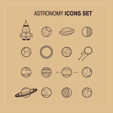 astronomy: Astronomy Icons Set