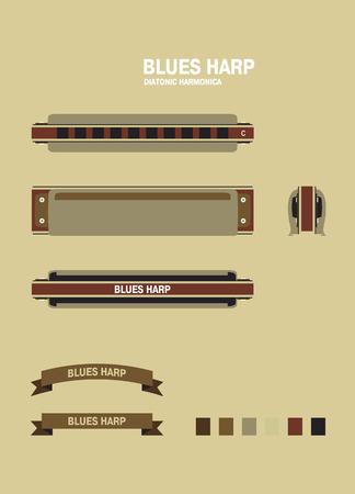blues: BROWN blues harp