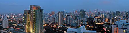 Evening City Skyline Stock Photo - 4883069