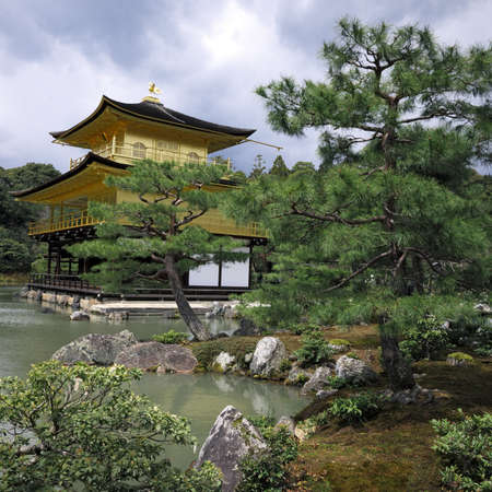 Kinkakuji Temple of the Golden Pavilion Stock Photo - 13257789