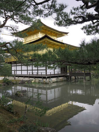 Kinkakuji Temple of the Golden Pavilion Stock Photo - 13257785