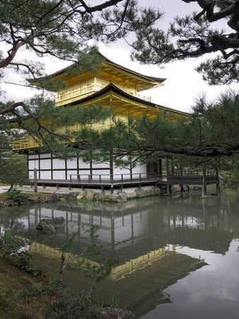 Kinkakuji Temple of the Golden Pavilion Stock Photo - 13257785