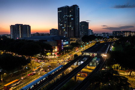Early Evening Scene Ang Mo Kio Central
