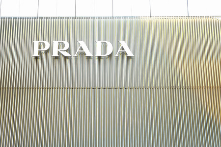 prada: Bangkok, Thailand-March 17 2015: Prada shop in the Central Embassy Mall. The mall houses many famous brand stores.