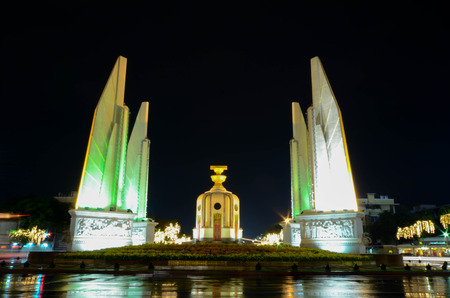 democracy Monument: BANGKOK THAILAND 4 DEC 2014:  Democracy Monument is a public monument in the centre of Bangkok
