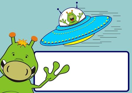 aliens in vector format Ilustracja