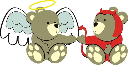 teddy bears in vector format