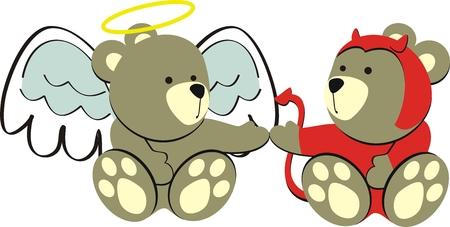 osos de peluche: osos de peluche en formato vectorial