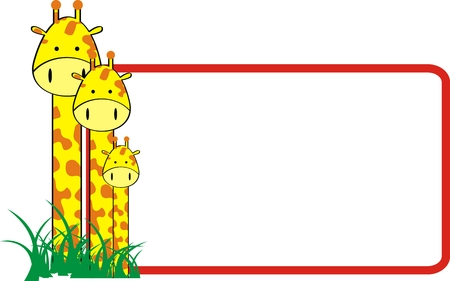 giraffe family in vector format easy to edit Illustration