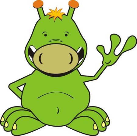 cute creature: cartoon alien in vector format