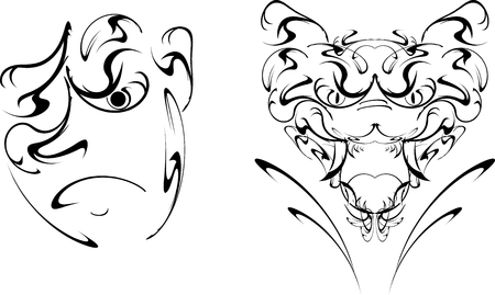 tatto: tatto in vector format very easy to edit
