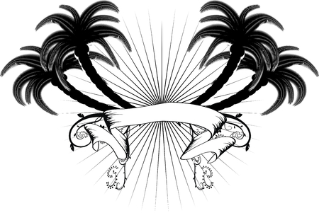 palms in vector format very easy to edit Ilustracja
