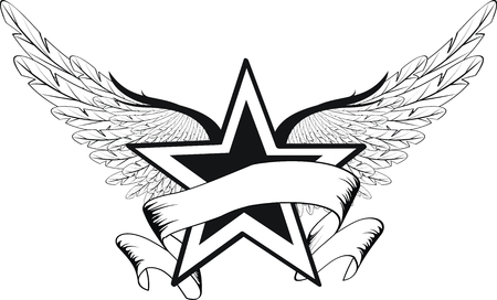 winged star in vector format