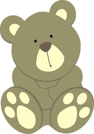 baby bear: teddy bear in vector format Illustration