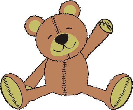 teddy bear in vector format Vector