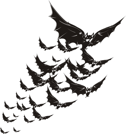 fear: halloween bat Illustration