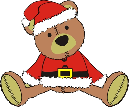 teddy claus Vector