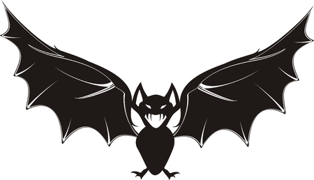 fear: cartoon bat in vector format Illustration