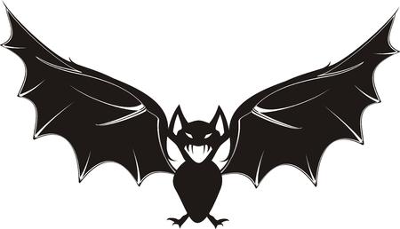 cartoon vleermuis in vector-formaat Stock Illustratie