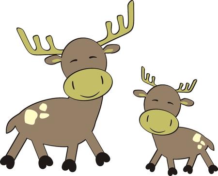 cartoon reindeer in vector format Stock Vector - 5964215