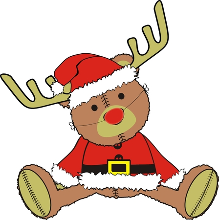 teddy bear christmas: teddy claus in vector format Illustration