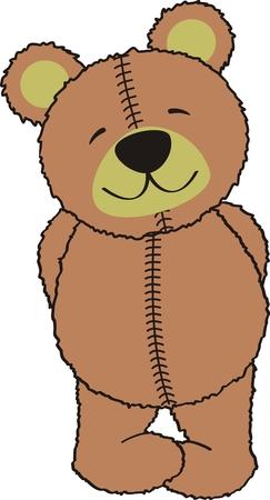 teddy bear: ours en peluche dans un format vectoriel Illustration