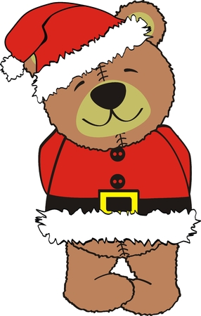 teddy claus in vector format Çizim