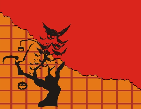 halloween backgroun in vector format  Ilustração