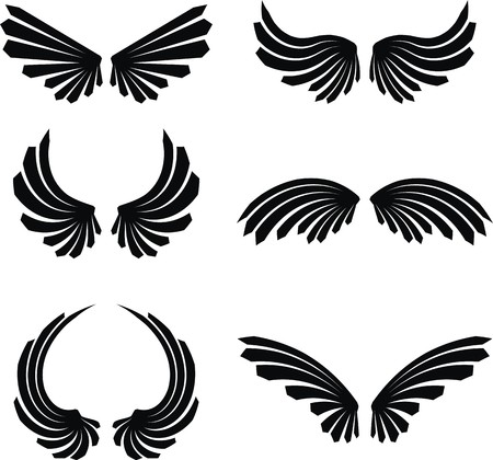 tattoo wings: wings set pack  Illustration