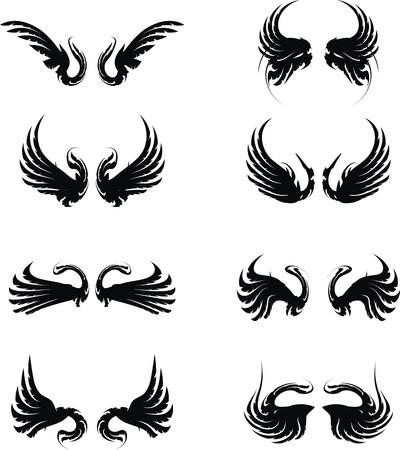 wings set pack  Stock Illustratie