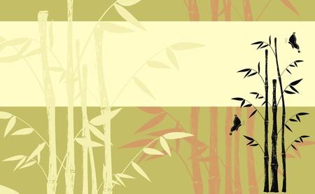 bamboo background  Ilustracja