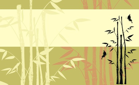 japanese style: bamboo background  Illustration
