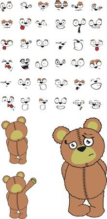 infantile: teddy  cartoon set   Illustration