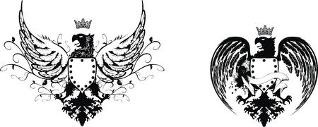 heraldic eagle set  Ilustração