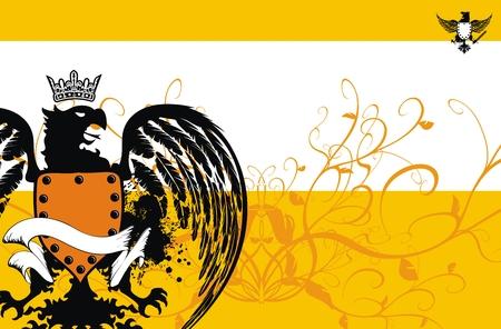 heraldic eagle background