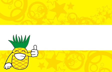 pineapple cartoon background Ilustracja
