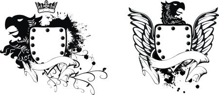 Eagle héraldique armoiries définie en format vectoriel Banque d'images - 8078902