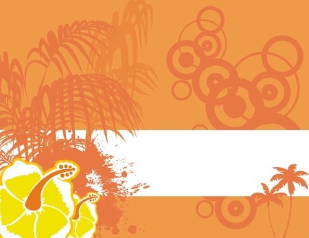 tropical flower background in vector format very easy to edit Vector