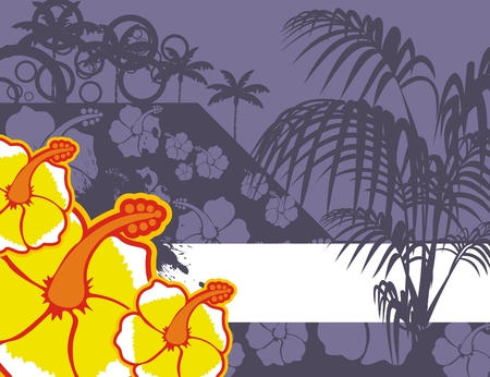 tropical flower background in vector format very easy to edit
