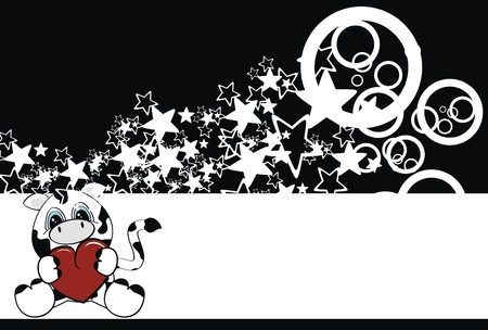 star background: cow  cartoon background in vector format very easy to edit