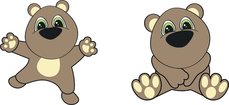 teddy  cartoon set in vector format very easy to edit