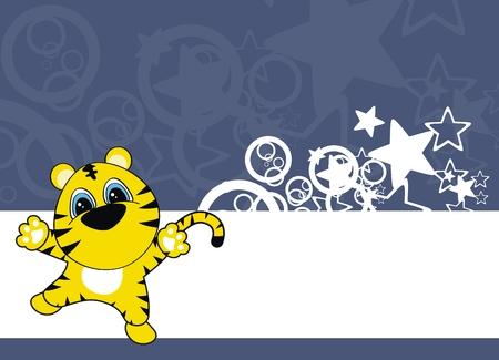 tiger baby cartoon background  Vector