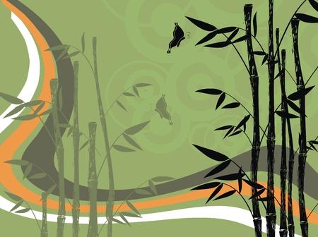 bamboo background  Ilustração