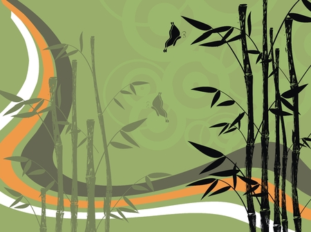 bamboo background  Illustration
