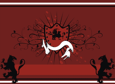 heraldic gryphon coat of arms  Vector