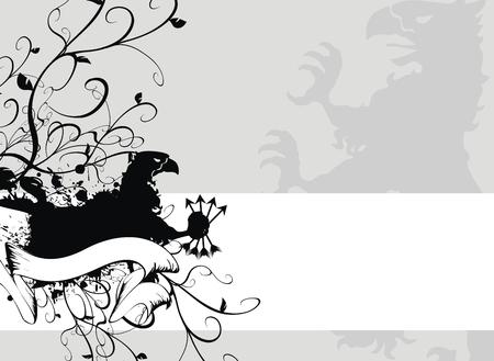 Armoiries gryphon héraldique  Banque d'images - 8266087