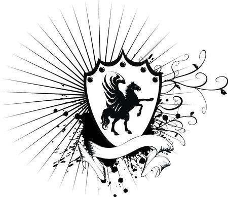 ribbons: heraldic horse coat of arms
