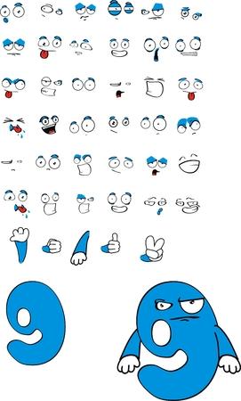 nine number cartoon Stock Vector - 8266096
