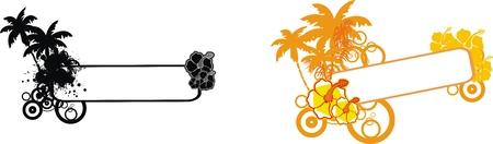 copyspace: tropical flower copyspace set